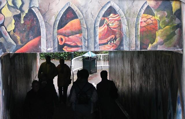 street art graffiti of dragon in Exeter England