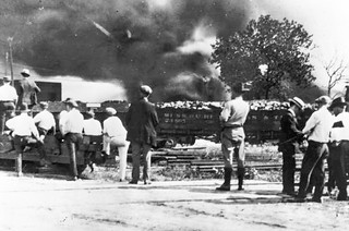 White Mob at the Scene of Final Assault on Greenwood: 1921