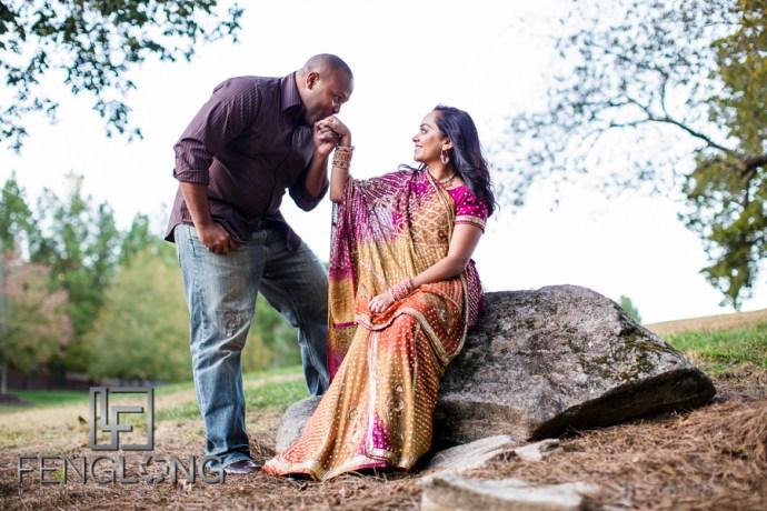 Janella & Chuck's Engagement Session | Three Chimneys Farm | Atlanta Indian Wedding Photographer