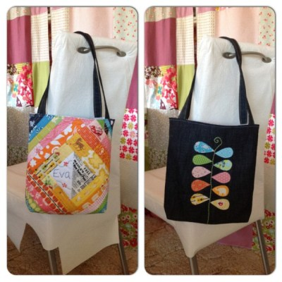 #instacollage now my partner has received her tote I can finally reveal my embroidery... Made for Eva at pippa blue