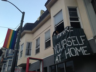 Make yourself at home Castro #lgbt #worldhomelessactionday #ows #occupysf #oo #osf