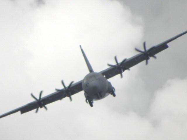 The Lockheed C-130J Hercules Military Transport Plane