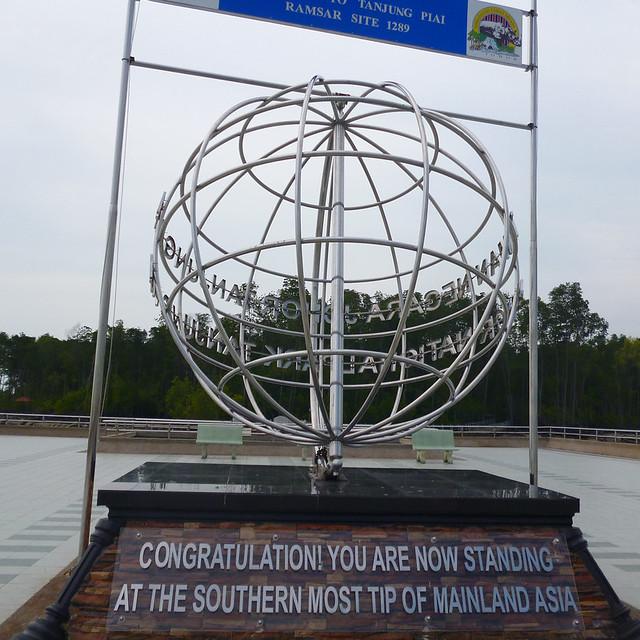 End of continent of Asia Tanjung Piai, Johor