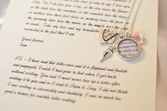 Mark Twain Love Letter Charm Necklace by Ciarrai Studios