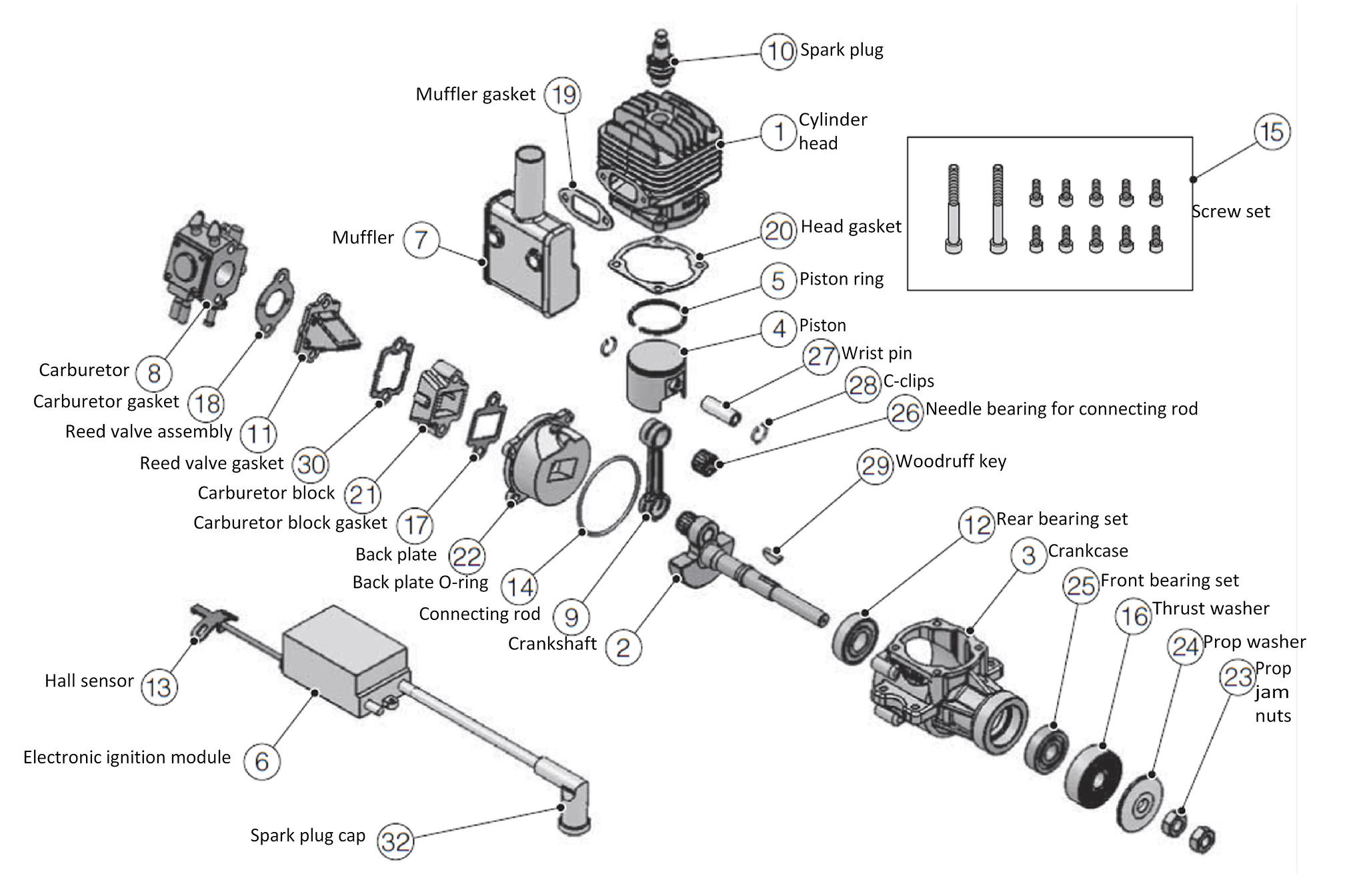 Dle 20 Exploded Diagram