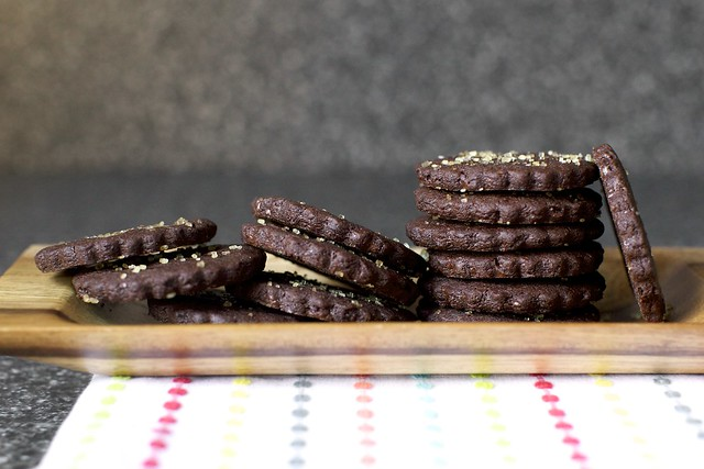 intensely chocolate sables
