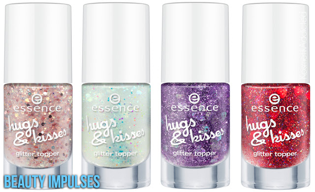 essence hugs kisses Beauty Impulses  nail polish glitter topper