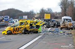 Schwerer Unfall A3 Bad Camberg 05.02.13