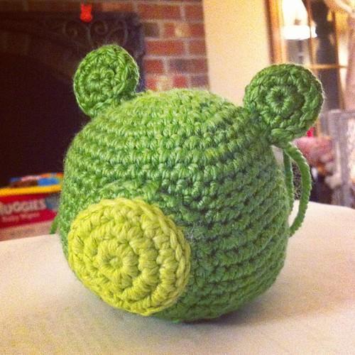 Just need eyes... #amigurumi #angrybird #crochet #monster