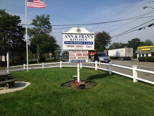 Ann Fran Outside Sign