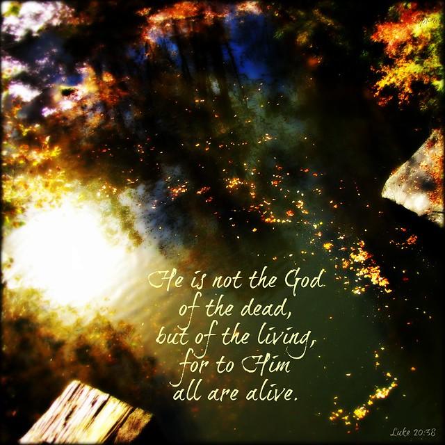 Luke 20:38