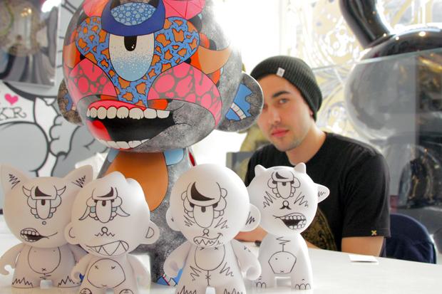 Kidrobot New York Mega Munny painting
