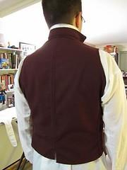 Maroon Waistcoat Back