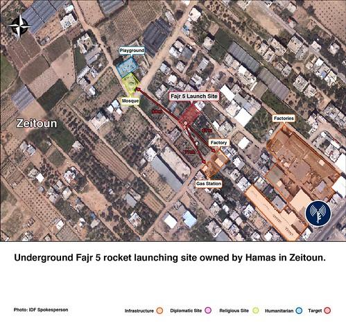 Largo Alcance Rocket Launch Site en el Entorno de Zeitoun