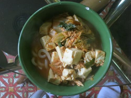 Chamchi kimchi udon jjigae