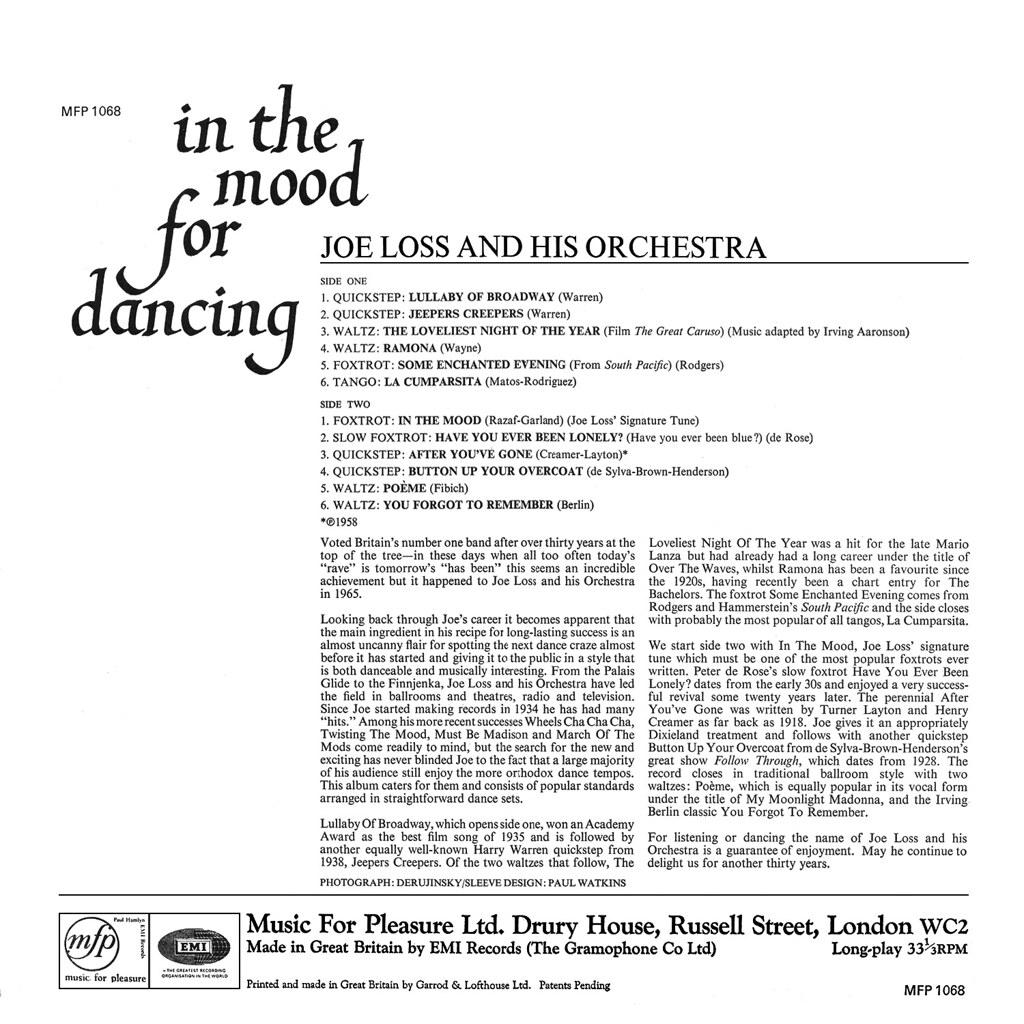 Joe Loss - In the Mood for Dancing