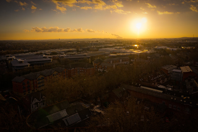 Sunset over... Nottingham
