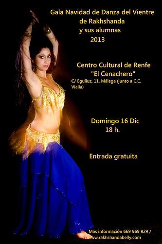 Cartel Gala Navidad 2013 Danza del Vientre