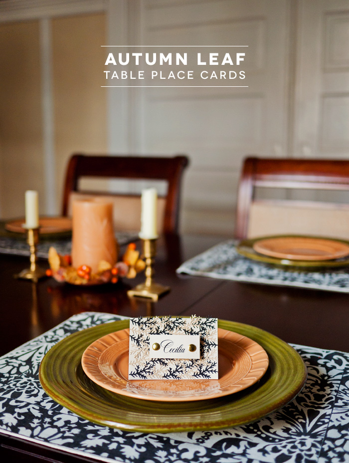 DIY Thanksgiving Table Place Cards