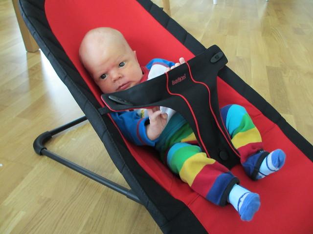 Sander i babysittern för första gången