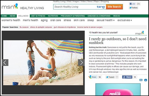 Joel Schlessinger MD featured on HealthyLiving.MSN.com