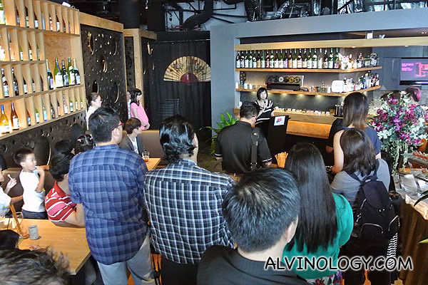Exhibition launch at Sansui Sumiyaki & Bar at One Fullerton