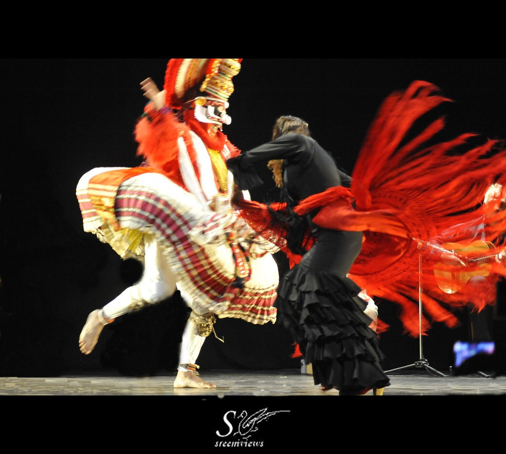 Dushyasana Vadham - Kathakali and Flamenco dazzled in tandem