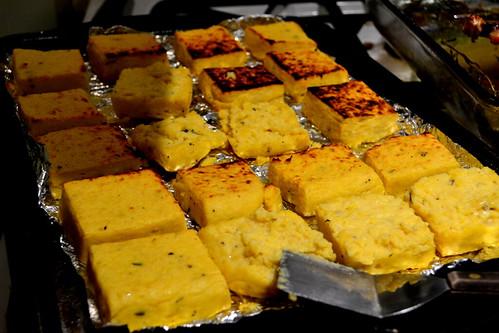 Broiled Garbanzo Polenta Cakes