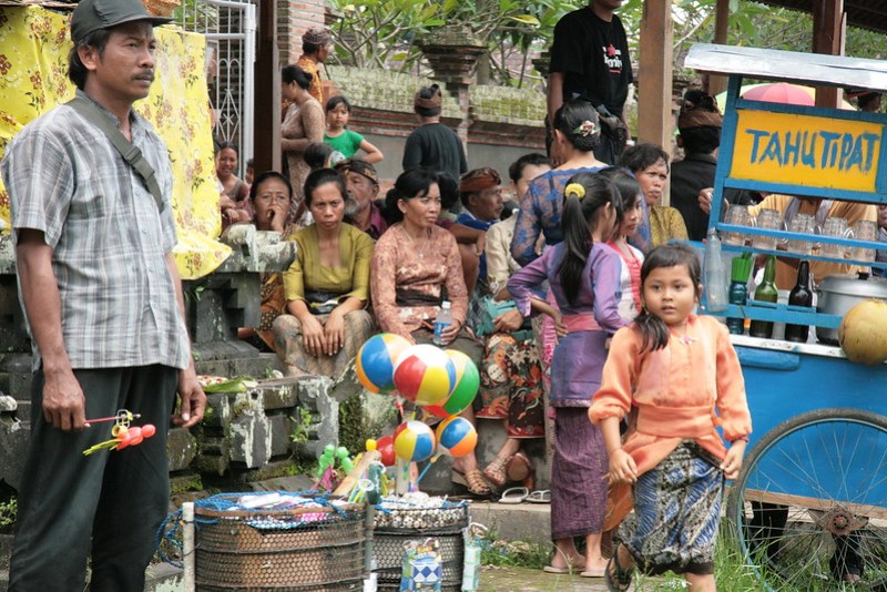 Crémation à Bangli, Bali, Indonésie