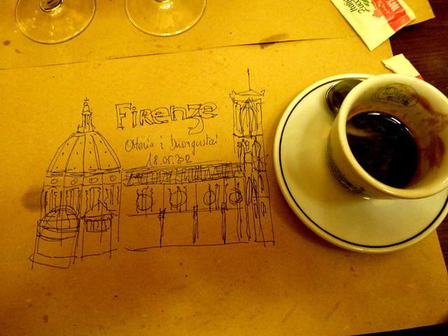 Florence - jour 2 - 053 - Osteria Il Buongustai - Via dei Cerchi
