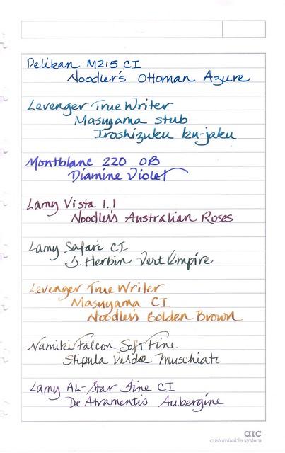 Staples arc Notebook Writing Sample