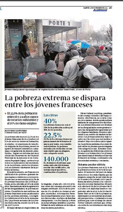 12l04 La pobreza extrema se dispara entre los jóvenes franceses Uti 415