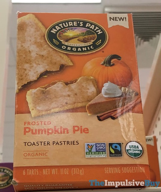 Nature's Path Organic Frosted Pumpkin Pie Toaster Pastries