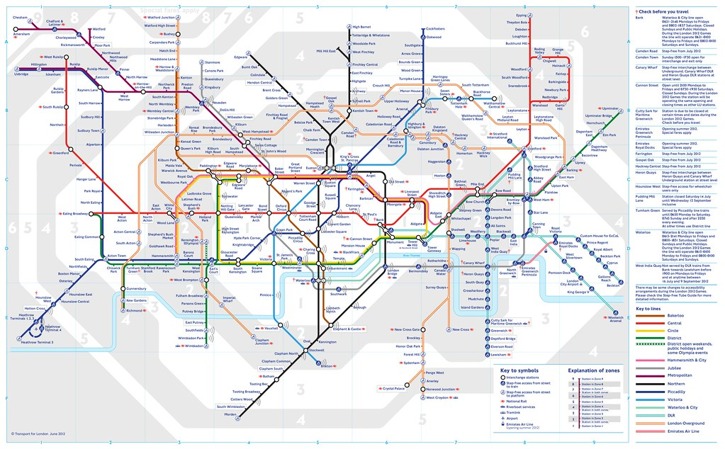 Wifi tube map
