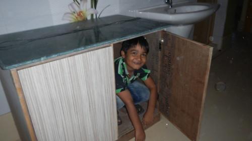 Hiding in the cupboard by mdashf