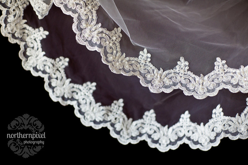 Lace Veil Wedding Dress