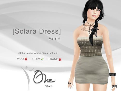 [Solara Dress] Sand