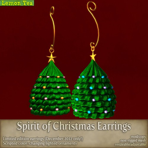{Lemon Tea} Spirit of Christmas Earrings by Sei Minuet / {Lemon Tea}