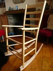 Ladderback rocking chair frame