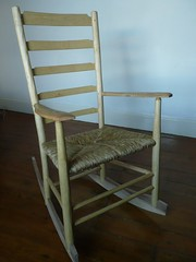 Rush seat rocking chair