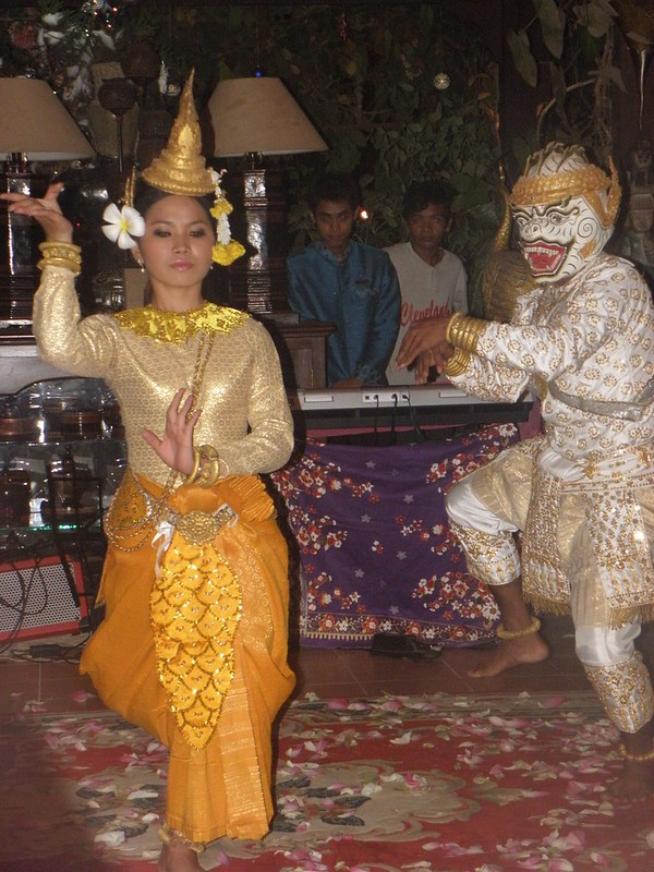 Traditional Khmer dancing in Cambodia