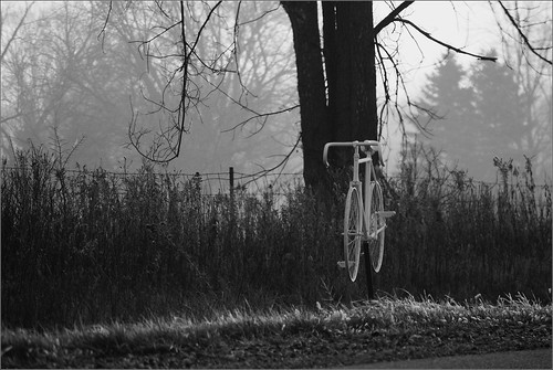The Ghost Bike Commemorating Curt Dombecky, 4/23/1948-7/14/2012