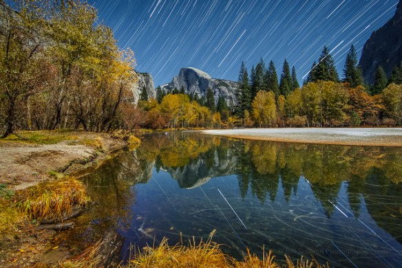 Star and Leaf Trails in Yosemite