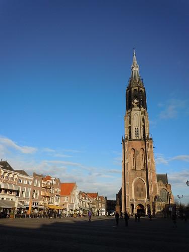 Delft Markt and Nieuwe Kerk