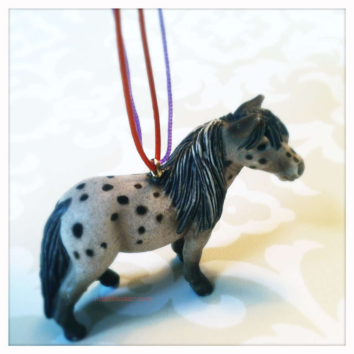 how to mount eyelet in back of toy pony necklace