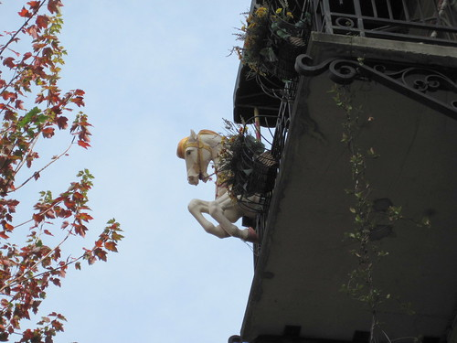 Interesting balcony ornament