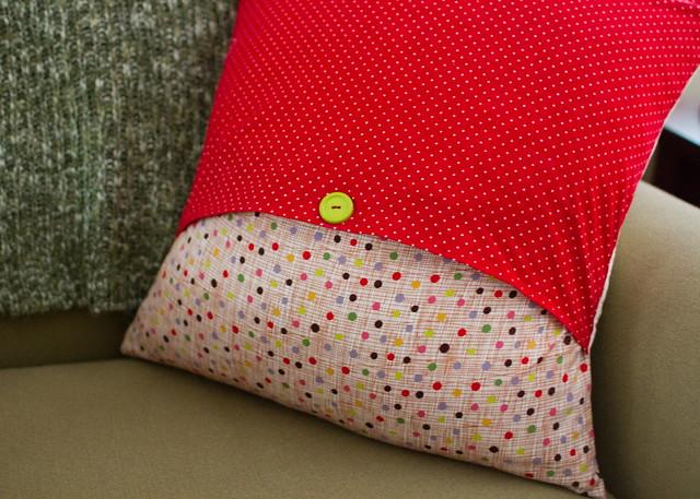 granny square christmas pillow
