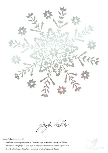 snowflake poster by Gaborovna