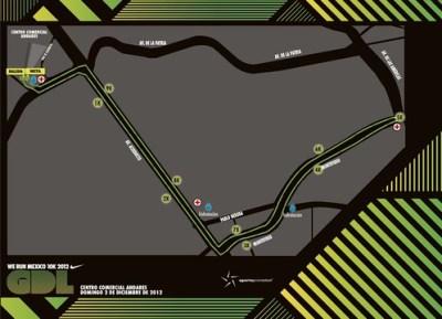 Ruta carrera Nike We Run Mexico 2012 - Guadalajara
