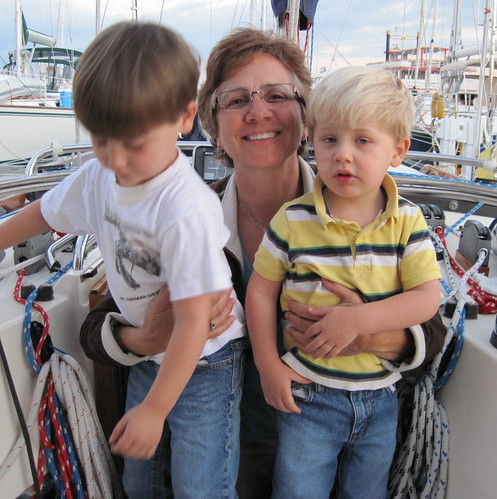 James and Josh visit us on the boat